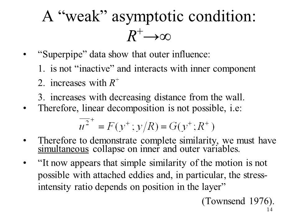 A weak asymptotic condition: R+→∞