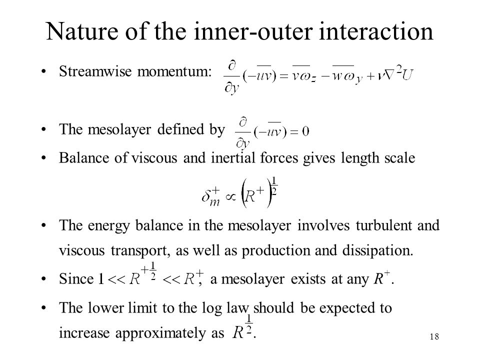 Nature of the inner-outer interaction