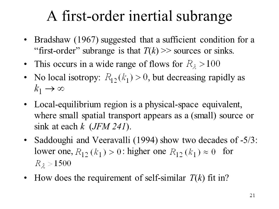 A first-order inertial subrange