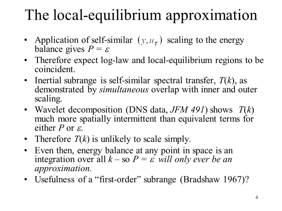 The local-equilibrium approximation