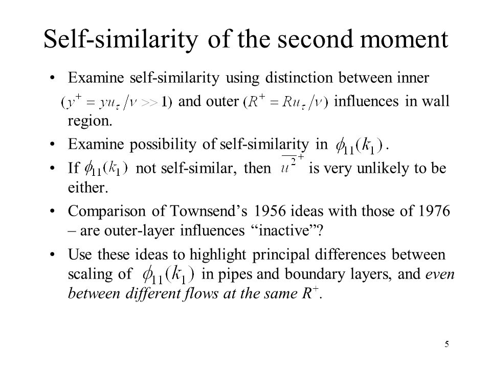 Self-similarity of the second moment