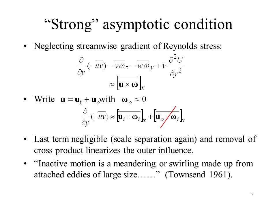 Strong asymptotic condition