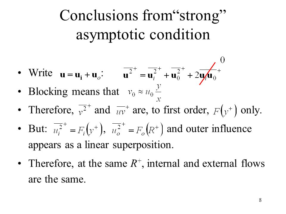 Conclusions from strong asymptotic condition