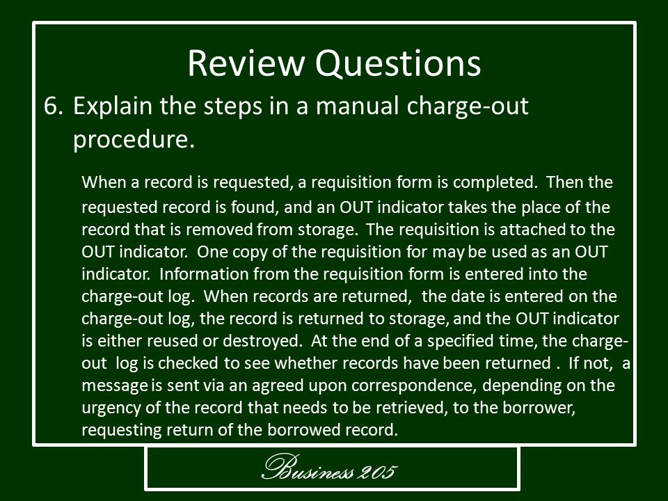 Review Questions Business 205