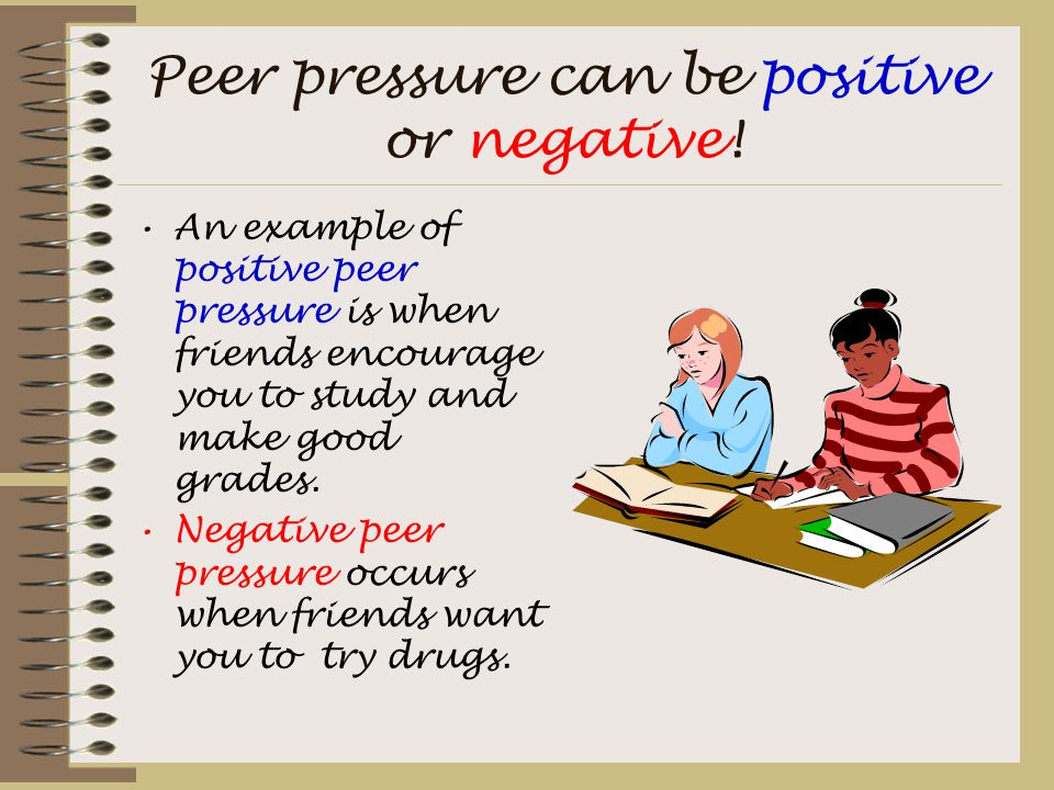 positive peer pressure essays