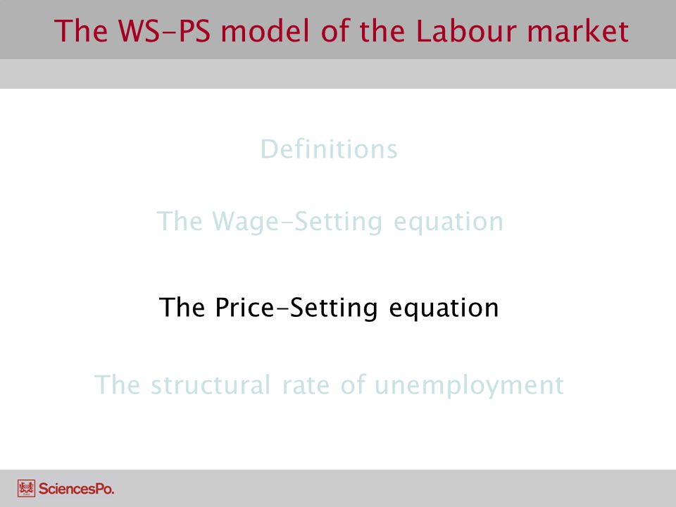 The WS-PS model of the Labour market