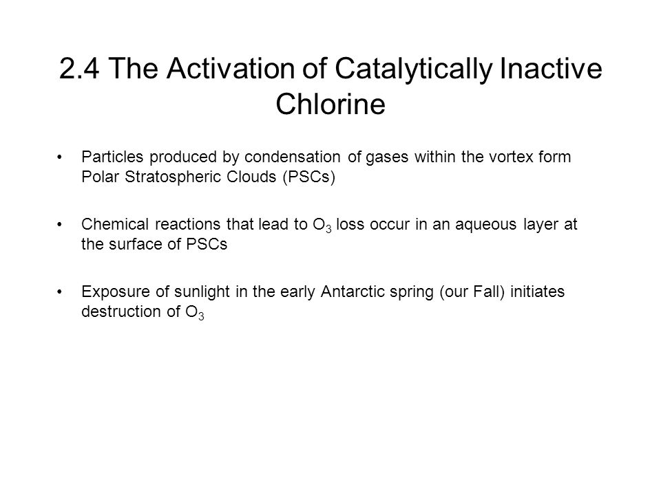 2.4 The Activation of Catalytically Inactive Chlorine