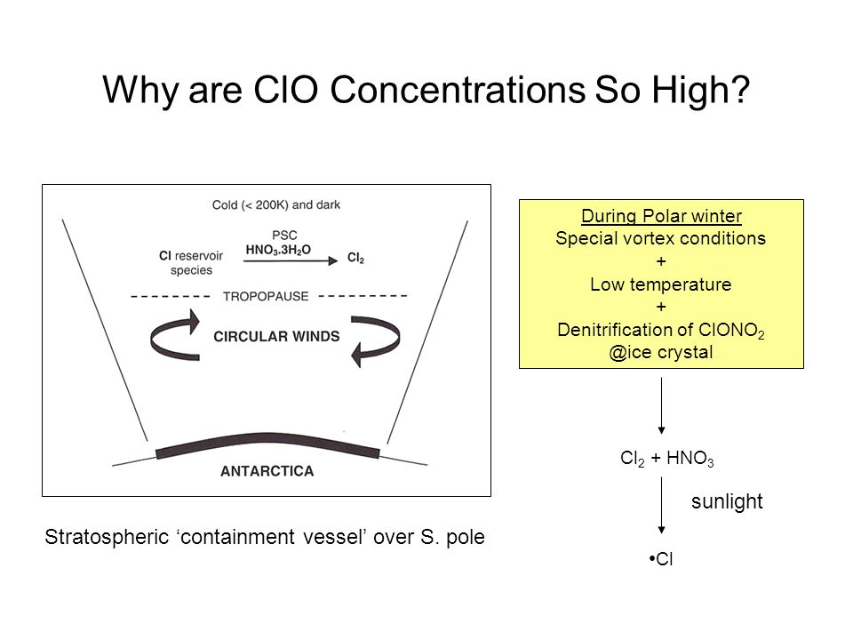Why are ClO Concentrations So High