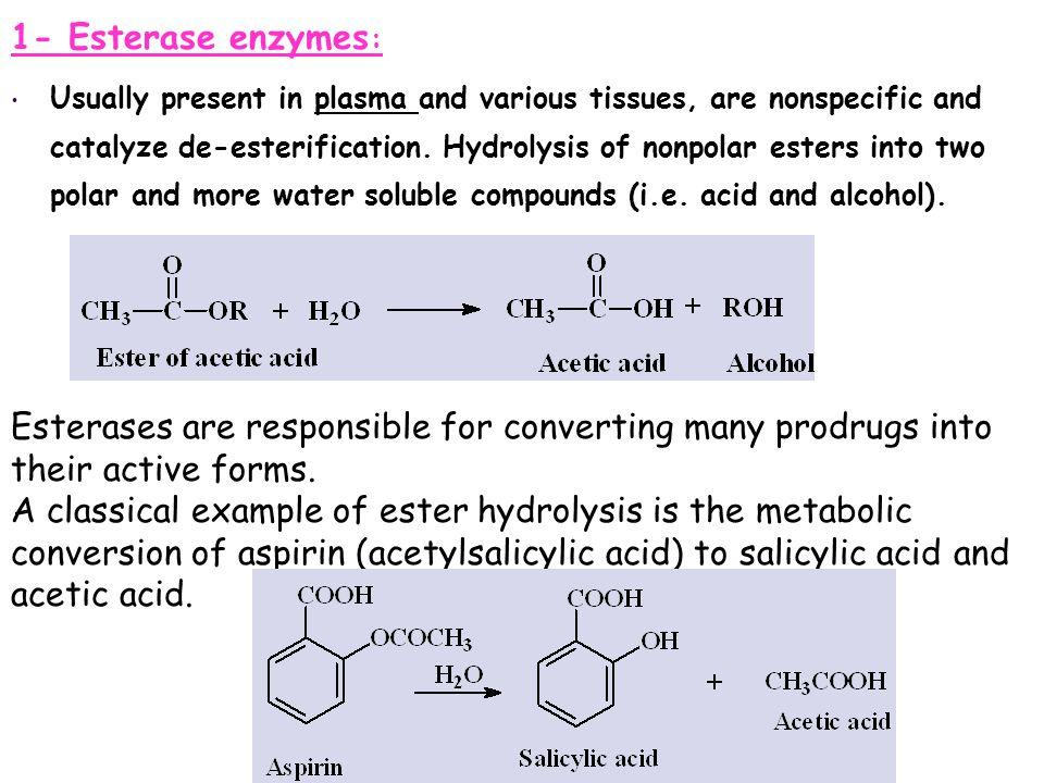 1- Esterase enzymes: