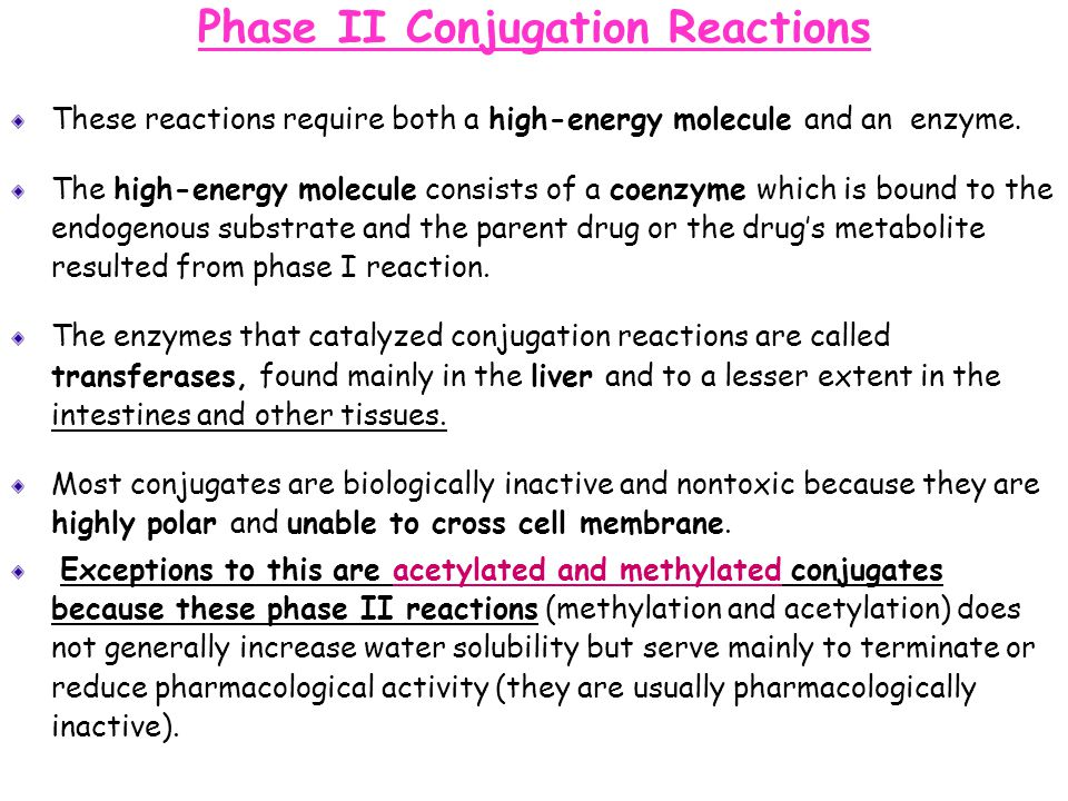 Phase II Conjugation Reactions