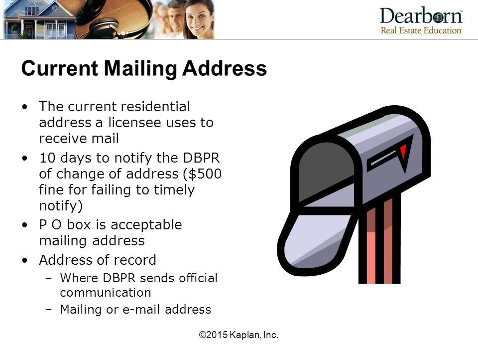 Current Mailing Address