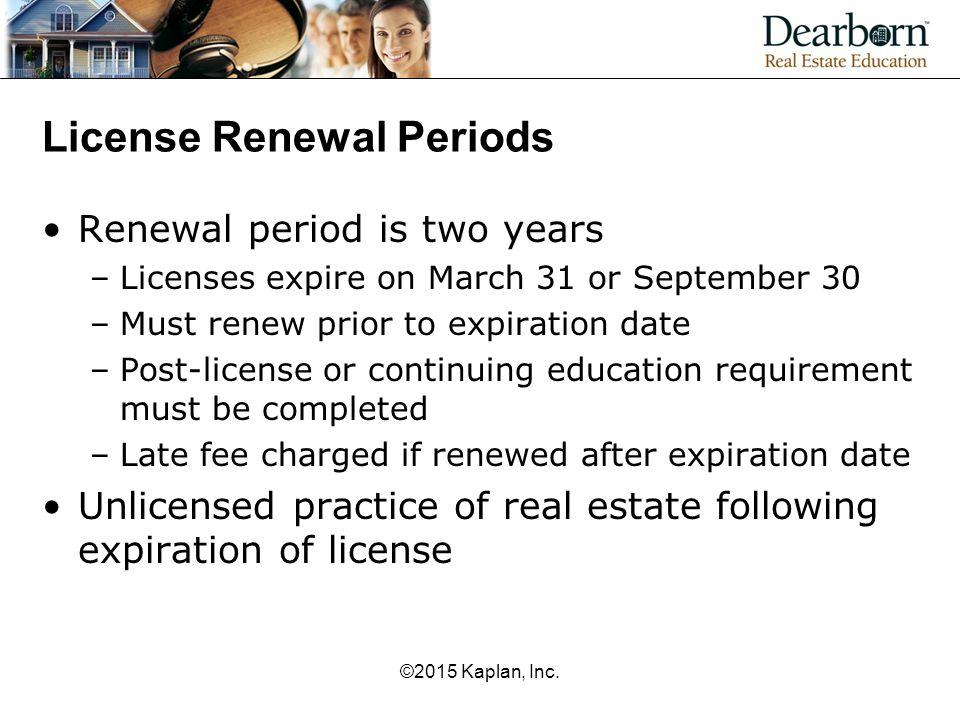 License Renewal Periods