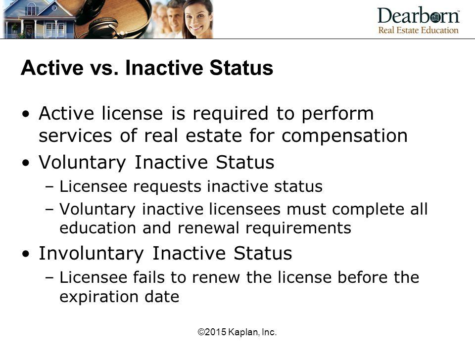 Active vs. Inactive Status
