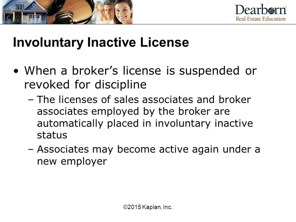 Involuntary Inactive License