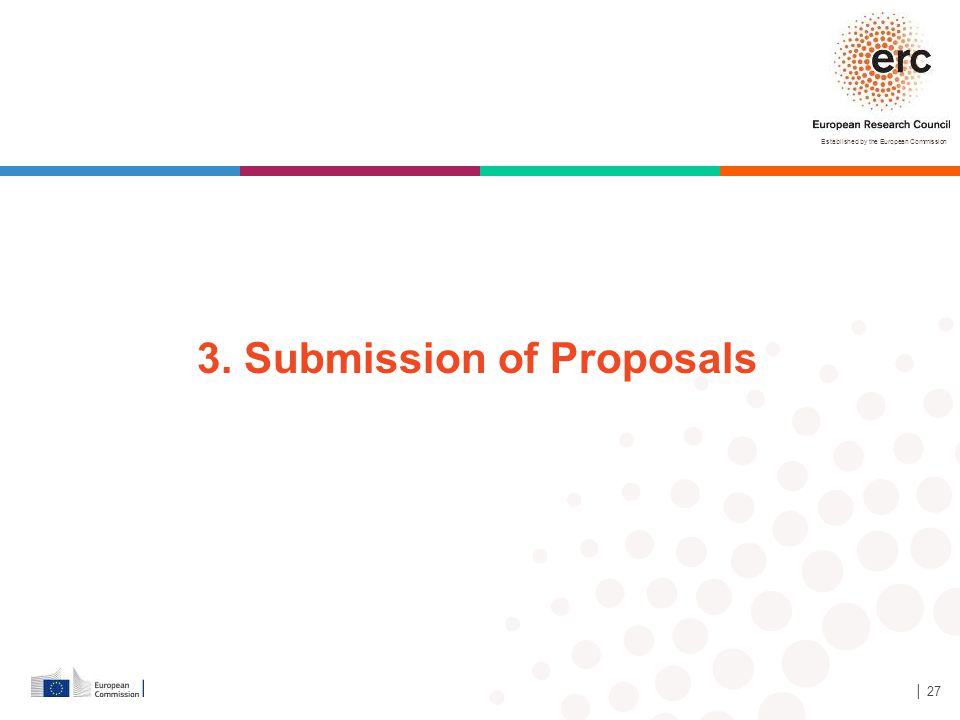 3. Submission of Proposals