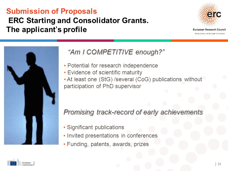 Submission of Proposals ERC Starting and Consolidator Grants.