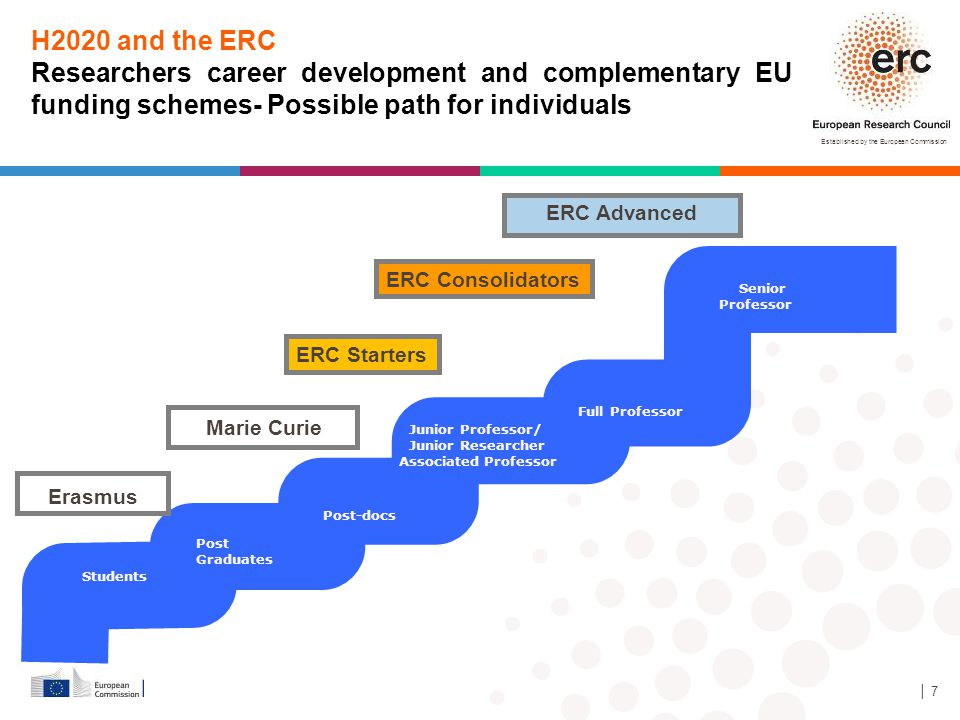H2020 and the ERC Researchers career development and complementary EU funding schemes- Possible path for individuals.
