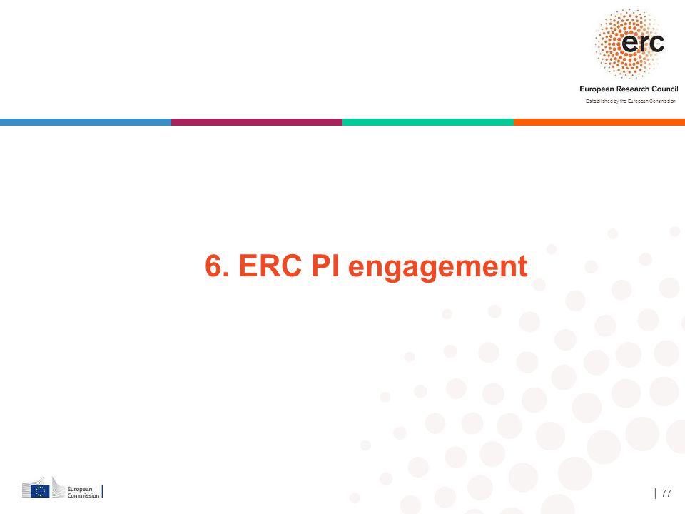 6. ERC PI engagement 44, 39 y 17 Antes 40, 35, 15, 10 │ 77