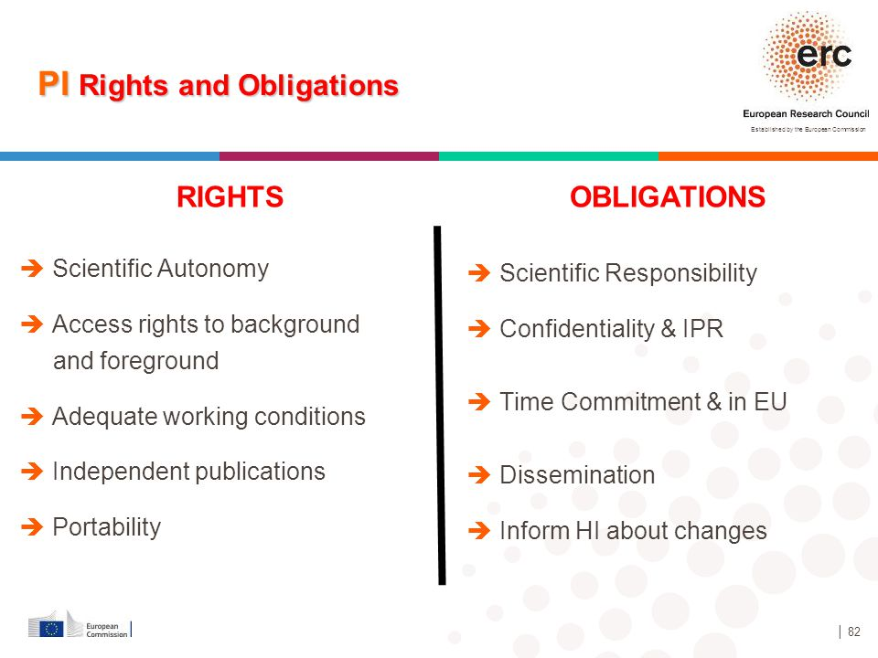 PI Rights and Obligations