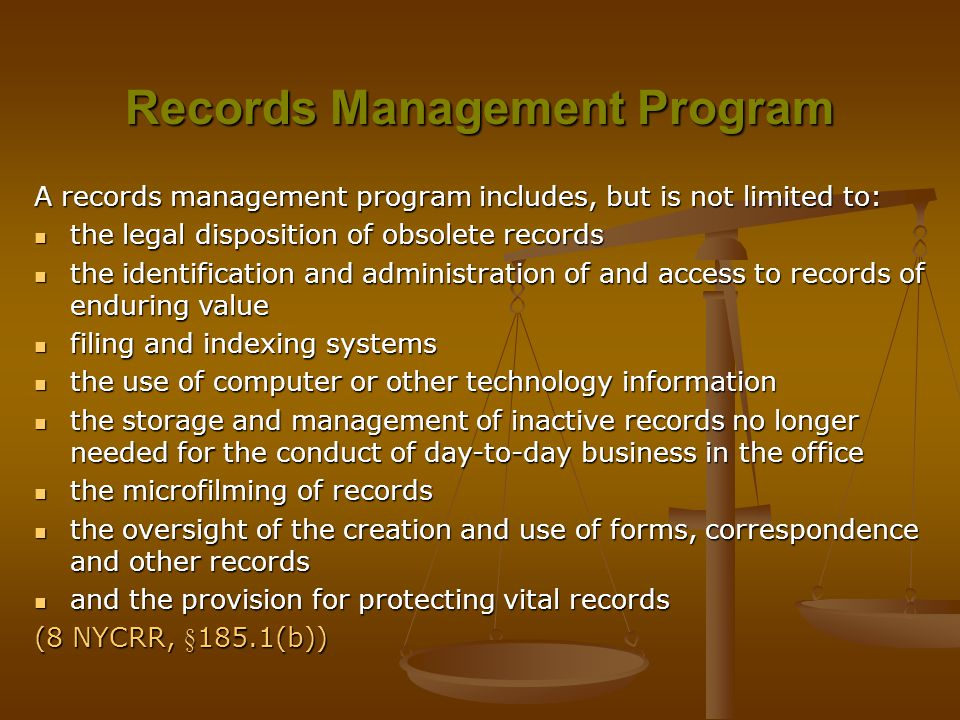 Records Management Program