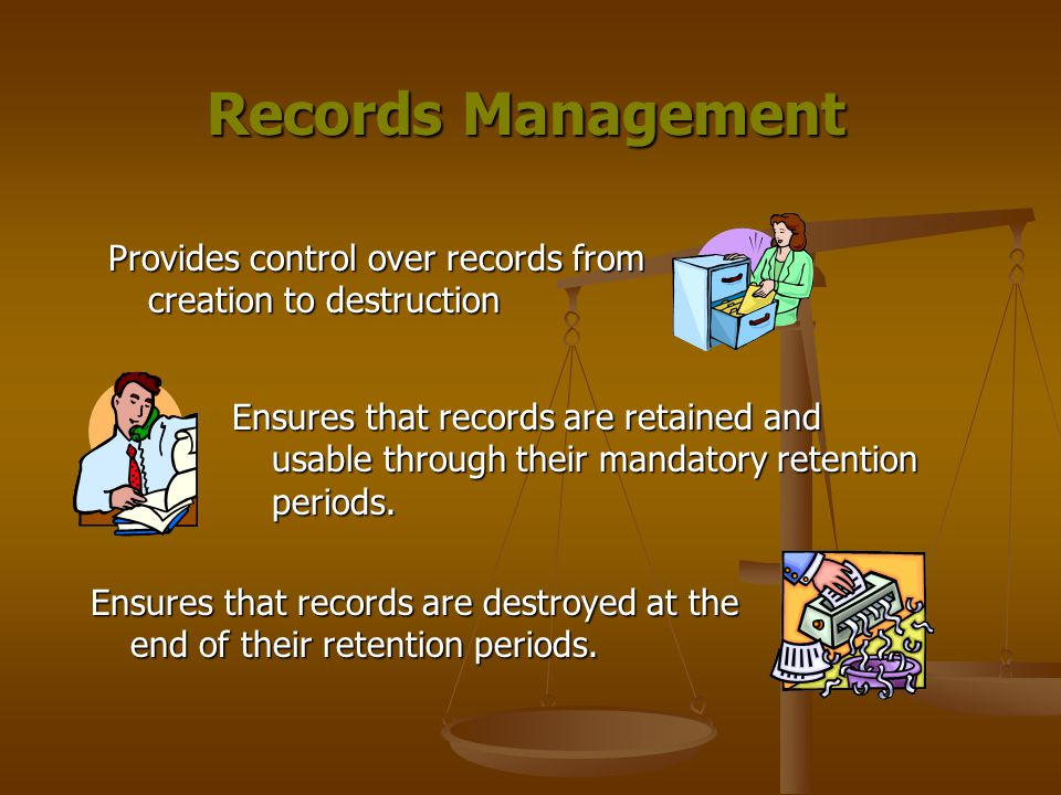 Effective Records Management