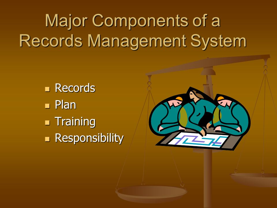 Major Components of a Records Management System