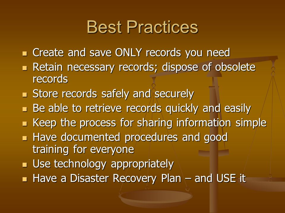 Best Practices Create and save ONLY records you need
