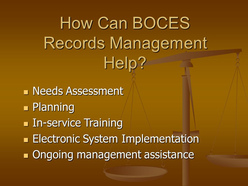 How Can BOCES Records Management Help