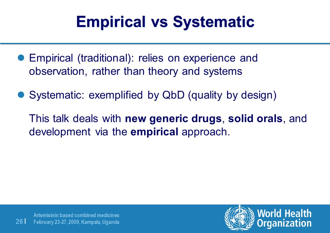 Empirical vs Systematic