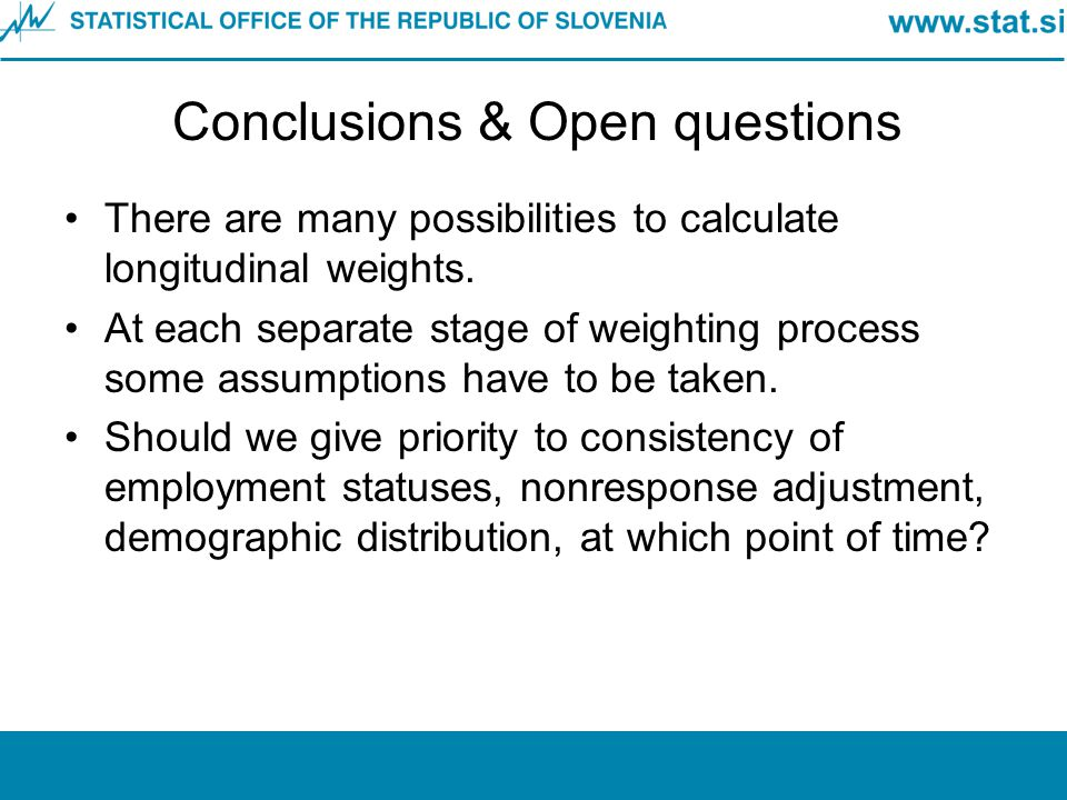 Conclusions & Open questions