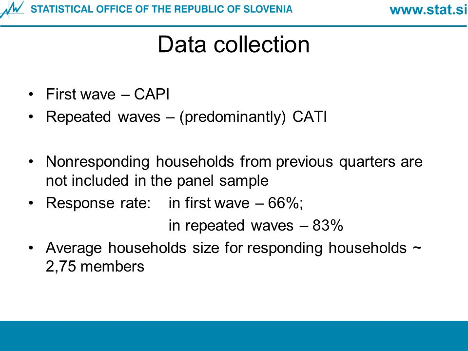 Data collection First wave – CAPI