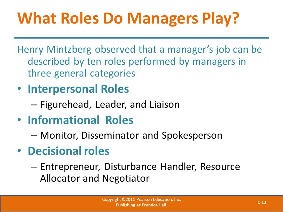 What Roles Do Managers Play