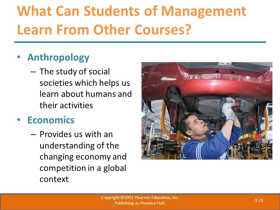 What Can Students of Management Learn From Other Courses