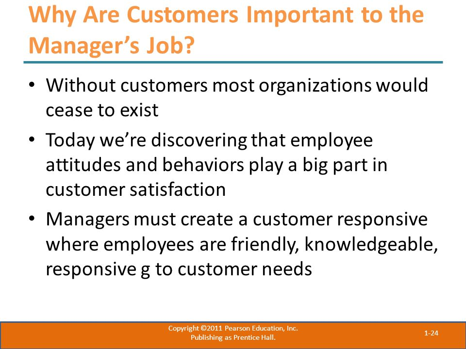 Why Are Customers Important to the Manager's Job