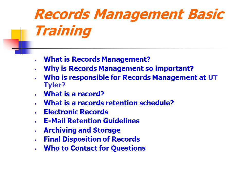 Records Management Basic Training