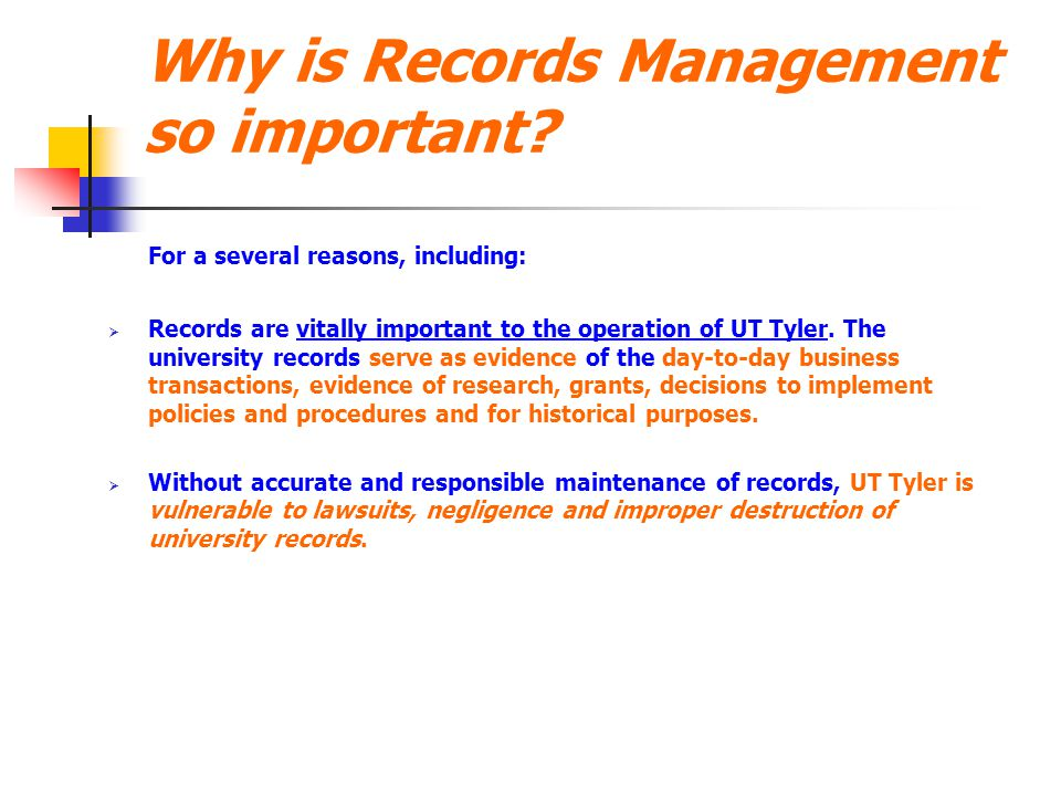 Why is Records Management so important