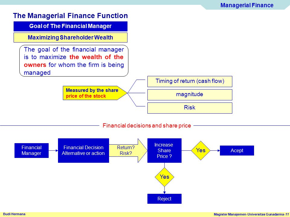 Goal of The Financial Manager Maximizing Shareholder Wealth