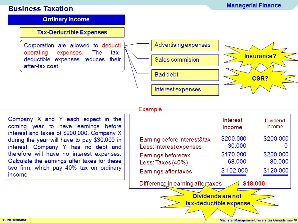 Tax-Deductible Expenses tax-deductible expense