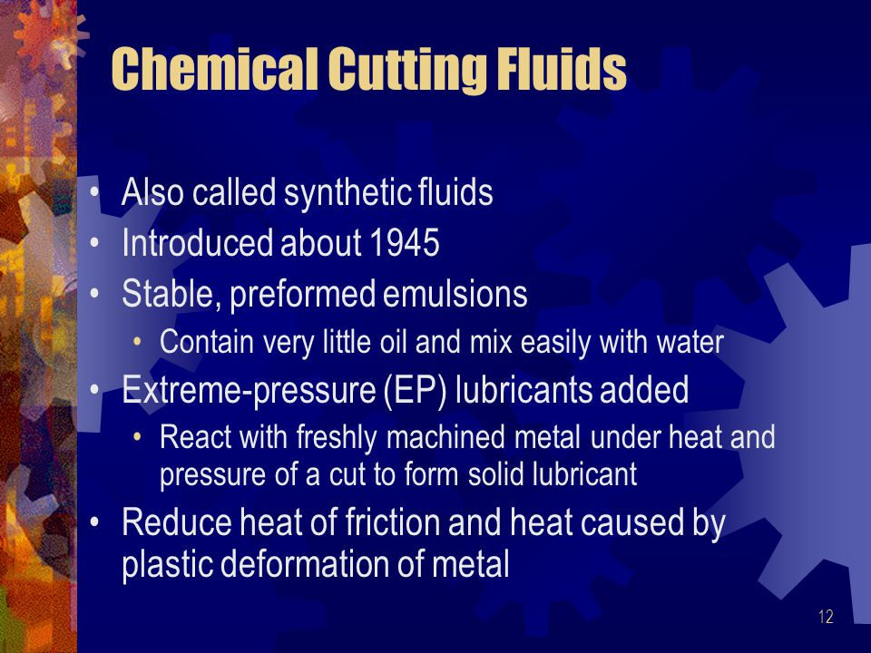 Chemical Cutting Fluids