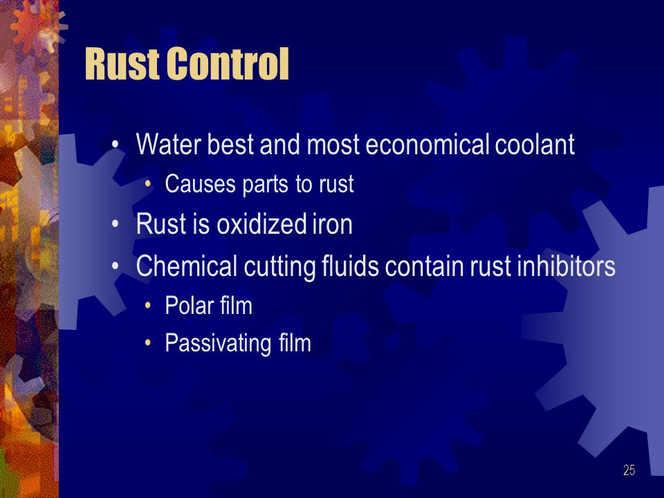 Rust Control Water best and most economical coolant