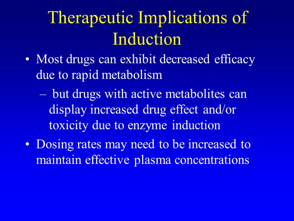 Therapeutic Implications of Induction