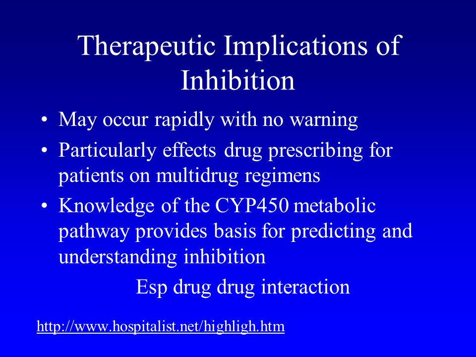 Therapeutic Implications of Inhibition