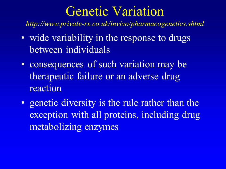 Genetic Variation http://www. private-rx. co