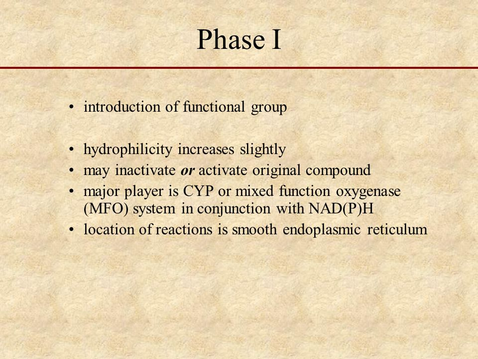 Phase I introduction of functional group