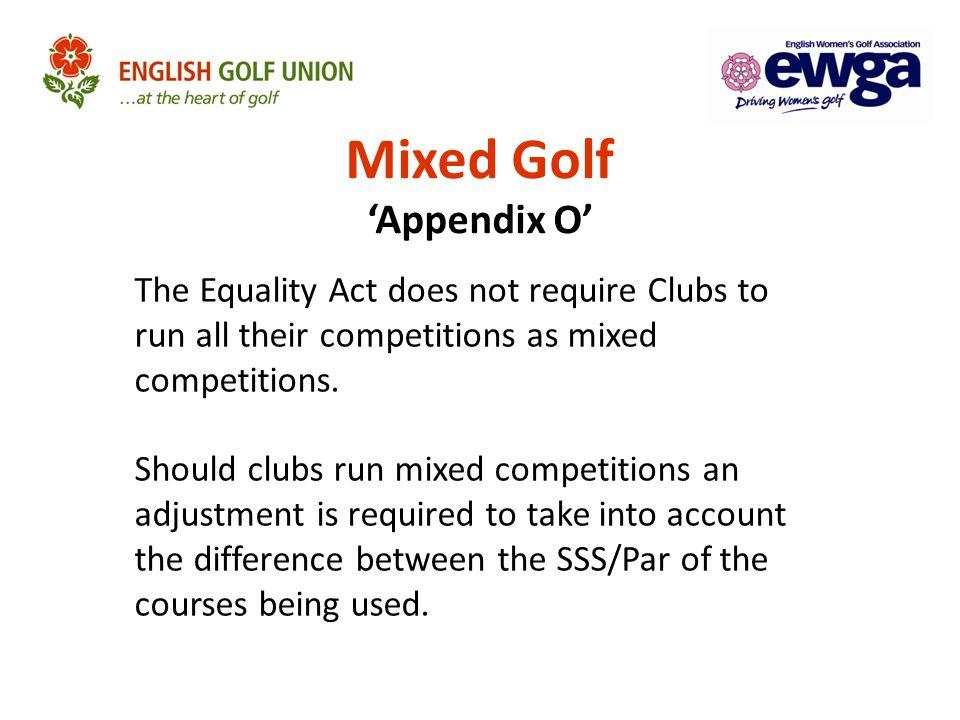 Mixed Golf 'Appendix O'