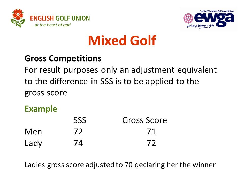 Mixed Golf Gross Competitions