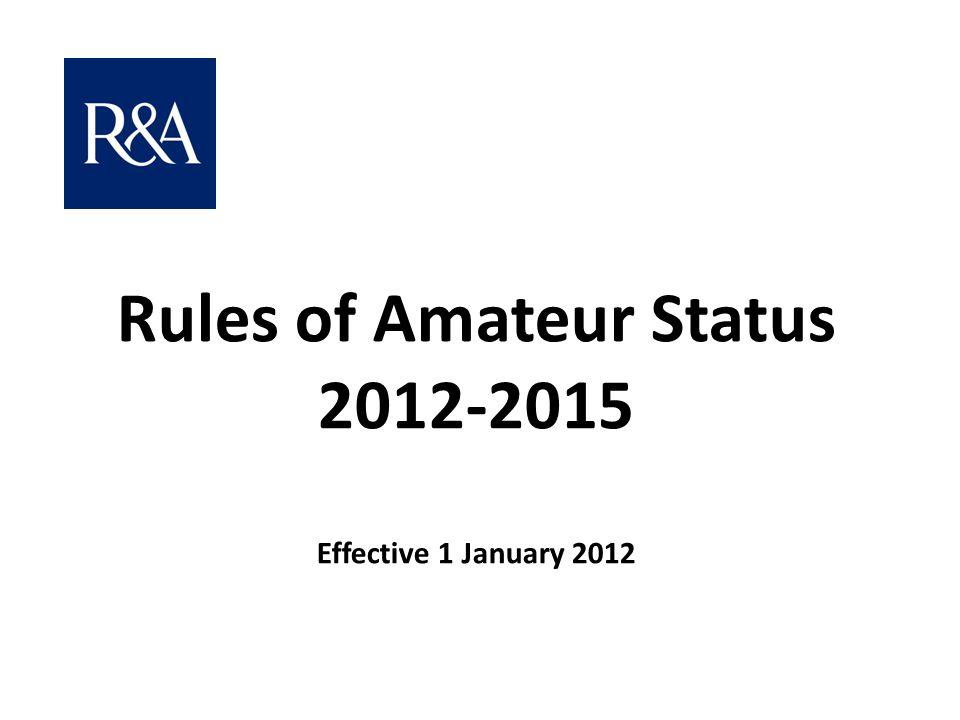 Rules of Amateur Status