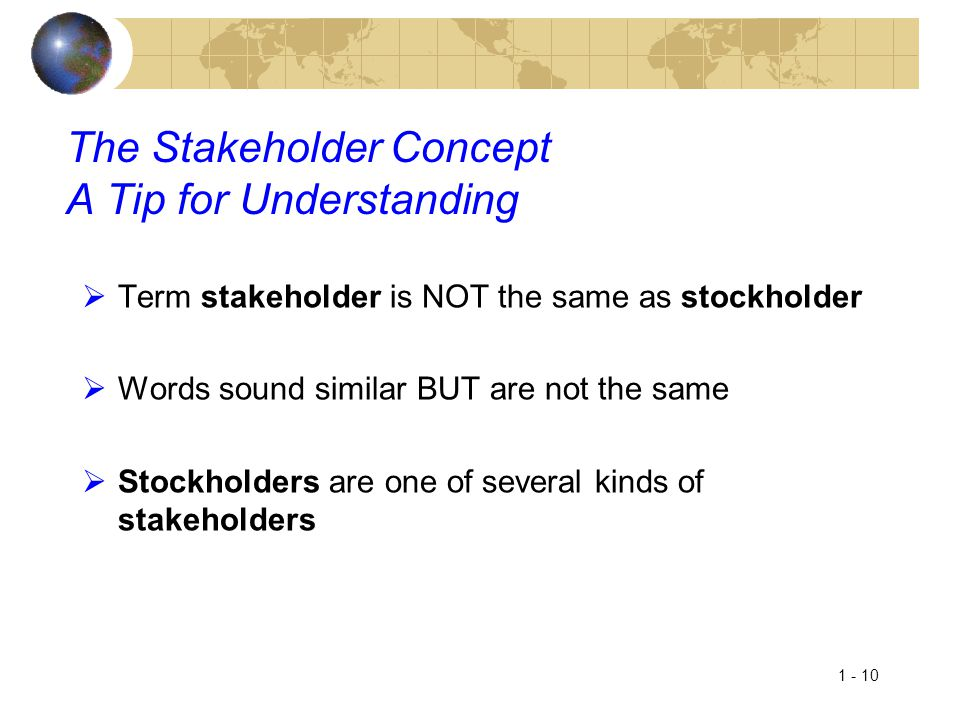 The Stakeholder Concept A Tip for Understanding