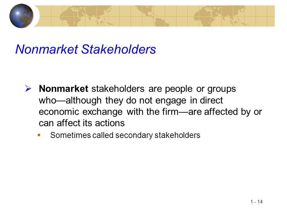 Nonmarket Stakeholders