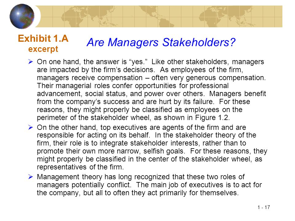 Are Managers Stakeholders